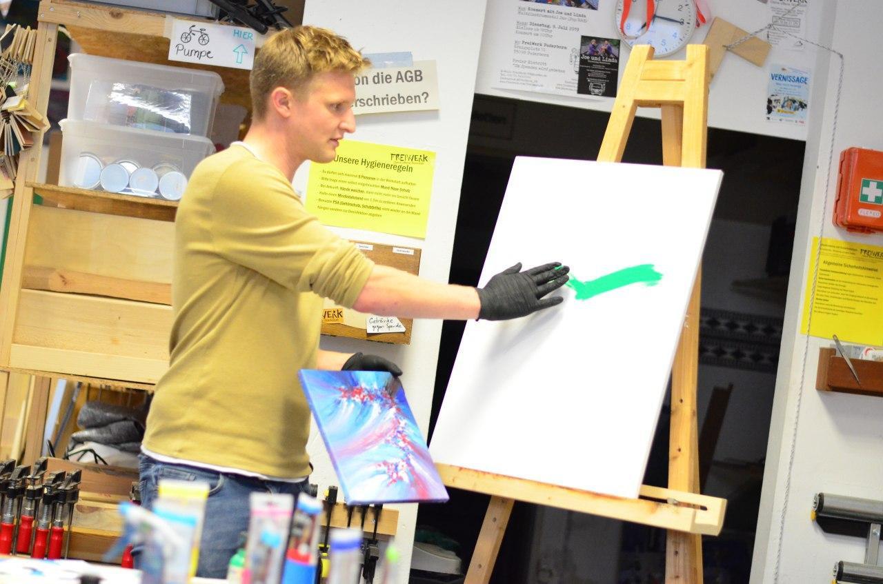 Ausgebucht: Experimentelles Malen mit den Fingern
